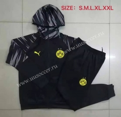 2020-2021 Borussia Dortmund Black Soccer Jacket Uniform With Hat-815