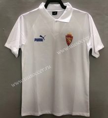 1995 Retro Version Real Zaragoza White Thailand Soccer Jersey AAA-811