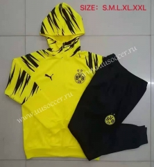 2020-2021 Borussia Dortmund Yellow Soccer Jacket Uniform With Hat-815