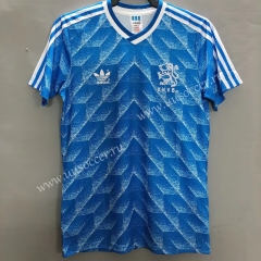1988 Retro Version Netherlands Away Blue Thailand Soccer Jersey AAA-811