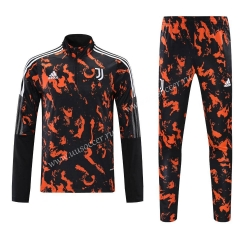 2020-2021 Juventus Orange & Red Training Thailand Tracksuit Uniform-418