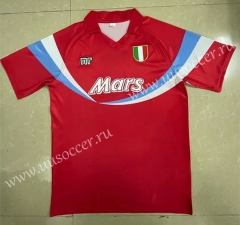90-91 Retro Version Napoli Red Thailand Soccer Jersey AAA-818