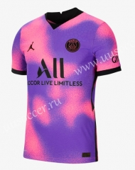 2021-22 Paris SG 3rd Away Purple & Pink  Thailand Soccer Jersey AAA
