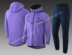 2020-2021 Nike Purple With Hat Soccer Jacket Uniform-815