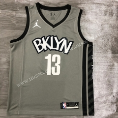 2020-2021 City Version NBA Brooklyn Nets Gray #13 Jersey-311
