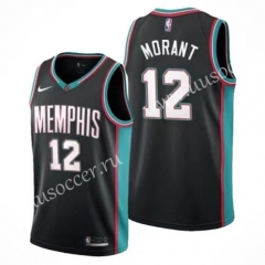 2020-2021 Retro Version NBA Memphis Grizzlies Black#12 Jersey-311