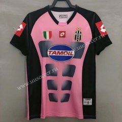 02-03 Retro Version Juventus Red & Pink Thailand Soccer Jersey AAA-811