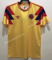 1990 Retro Version Colombia Home Yellow Thailand Soccer Jersey-811