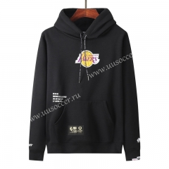 NBA Los Angeles Lakers Black Tracksuit Top With Hat-LH