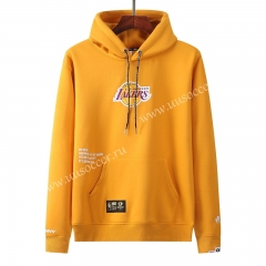 NBA Los Angeles Lakers YellowTracksuit Top With Hat-LH