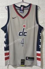 2020-2021 City Version NBA Washington Wizards Gray #4 Jersey