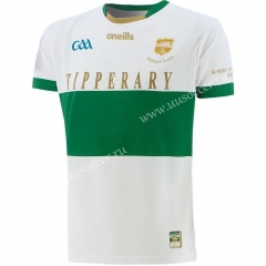 GAA 2020-2021 Tipari White & Green Rugby Shirt