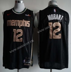 2020-2021 City Version NBA Memphis Grizzlies Black #12 Jersey