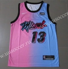 2020-2021 City Version NBA Miami Heat Pink & Blue #13 Jersey