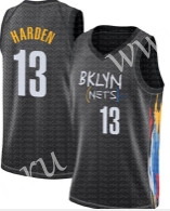 2020-2021 City Version NBA Brooklyn Nets Black #13 Jersey