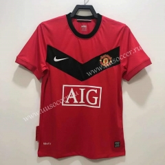 2010 Retro Version Manchester United Home Red Thailand Soccer Jersey AAA-811