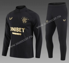 2020-2021 Rangers Black Soccer Tracksuit Uniform-411