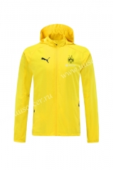 2021-2022 Borussia Dortmund Yellow Wind Coat With Hat-LH