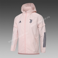 2020-2021 Juventus Pink Wind Coat  With Hat-815