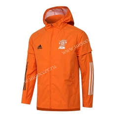 2020-2021 Manchester United Orange Wind Coat With Hat-815