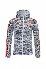 2021-2022 Manchester United Black & White Wind Coat Top With Hat-LH