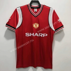 1985 Retro Version Manchester United Home Red Thailand Soccer Jersey AAA-811