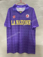 1989-1990 Retro Version Fiorentina Home Purple Thailand Soccer Jersey AAA-811