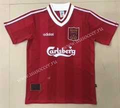 95-96 Retro Version Liverpool Home Red Thailand Soccer Jersey AAA-908