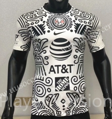 Player Version 2021-2022 Club América 3rd Alway Black & White Thailand Soccer Training Jersey-CS