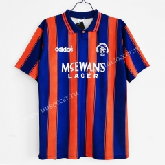 1993-1994 Retro Version Rangers Red & Blue Thailand Soccer Jersey AAA-C1046