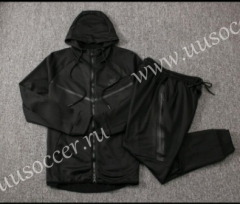 2020-2021 Nike Black Soccer Jacket Uniform With Hat-815