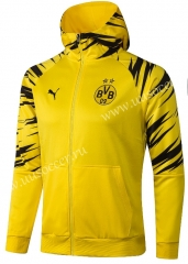 2020-2021 Borussia Dortmund Yellow Soccer Jacket With Hat-815