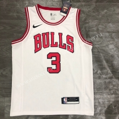 NBA Chicago Bull White #3 Jersey-311