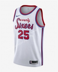 2020-2021 Retro Limited NBA Philadelphia 76ers White #25 Jersey-311