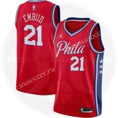 Jordan Topic 2020-2021 NBA Philadelphia 76ers Red #21 Jersey-311