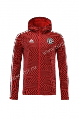 2021-2022 Manchester United Black & Red Wind Coat With Hat-LH