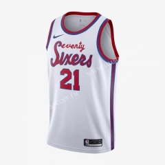 2020-2021 Retro Limited NBA Philadelphia 76ers White #21 Jersey-311