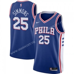 NBA Philadelphia 76ers Blue V Collar #25 Jersey-311