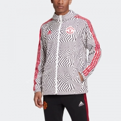 2021-2022 Manchester United Black & White Wind Coat Top With Hat-GDP