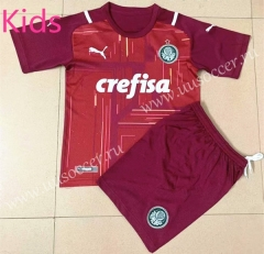 21-22 SE Palmeiras Goalkeeper Red  Kid/Youth Soccer Uniform-AY