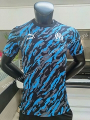 Player  Jointed Version 2020-2021 Olympique de Marseille Black Thailand Soccer Jersey AAA-FL