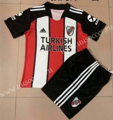 2021-2022 River Plate 2nd Away Red & White Soccer Uniform-AY