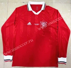 Retro Version Manchester United Red Thailand LS Soccer Jeesey AAA-818