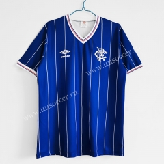 1982-83 Retro Version Rangers Home Blue Thailand Soccer Jersey AAA-C1046
