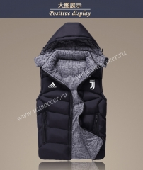 2021-2022 Juventus Black Double-sided Cotton Vest With Hat-GDP