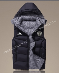 2021-2022 Manchester United Black Double-sided Cotton Vest With Hat-GDP