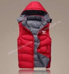 2021-2022 Addi Red Double-sided Cotton Vest With Hat-GDP