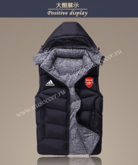 2021-2022 Arsenal Black Double-sided Cotton Vest With Hat-GDP