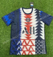 2021-22 Paris SG White & Blue Thailand Soccer Jersey AAA