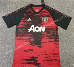 2020-2021 Manchester United Red & Black Thailand Soccer Training Jersey AAA-518